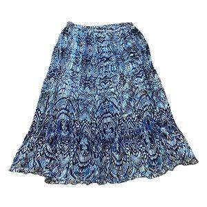 Roz&Ali women's maxi skirt, size XL, navy,white